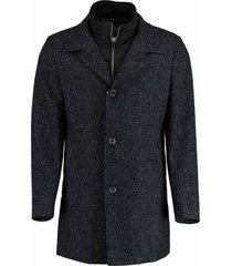 bos bright blue geke coat tweed 18301ge02sb/290 navy
