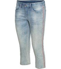 jeans capri con borchie (blu) - rainbow