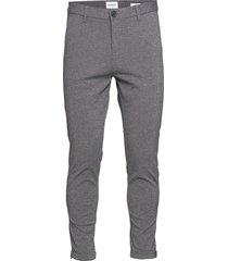 cropped pants - knitted kostymbyxor formella byxor grå lindbergh
