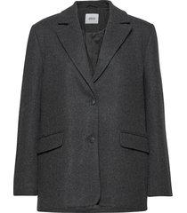 encovent jacket 6649 wollen jas lange jas grijs envii