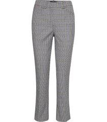 anais checked trousers pantalon met rechte pijpen grijs morris lady