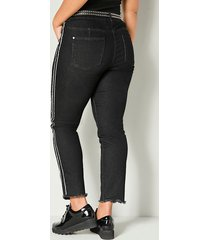 jeans med fransar nedtill angel of style svart