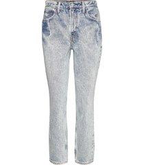 vintage wash mom jeans raka jeans blå abercrombie & fitch
