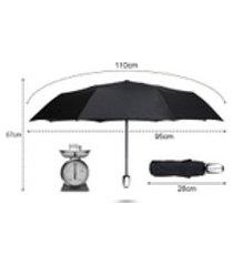 3 guarda-chuva dobrável automática permeável guarda-chuva uv