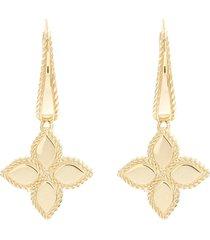 'princess flower' 18k yellow gold drop earrings