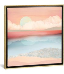 "icanvas mint moon beach by spacefrog designs gallery-wrapped canvas print - 18"" x 18"" x 0.75"""