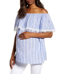 women's fourteenth place cha cha off the shoulder maternity top