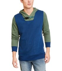american rag men's colorblocked belted hoodie, created for macy's