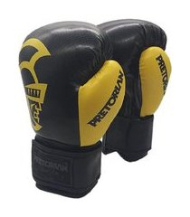 luva boxe/muay thai pretorian black line amarelo