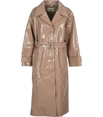fendi patent leather trench coat
