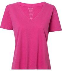 blusa le lis blanc isabel i malha algodão rosa feminina (dhalia, gg)