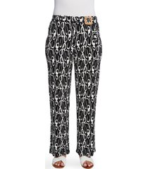 women's chaus abstract movements belted pants