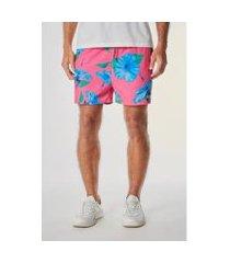 short elástico praia hibisco medio reserva masculino