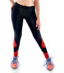 calça mama latina legging recorte preto vermelho