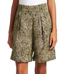 vainness oversized leopard shorts