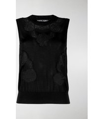 dolce & gabbana floral lace knitted vest