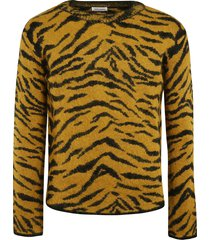 saint laurent animal print sweater