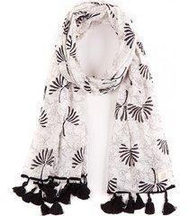 pañuelo dandelion blanco/negro humana