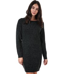 vero moda doffy lurex jumper dress size 14 in black