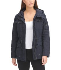 levi's women's hooded military jacket
