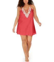 flora by flora nikrooz plus size lace-trim chemise nightgown