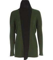 pierantoniogaspari long scarf neck sweater bicolour