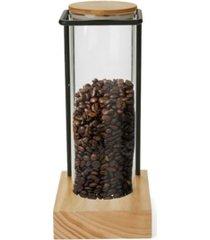 mind reader glass coffee tank rack