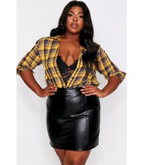 brushed flannel oversized shirt, mustard