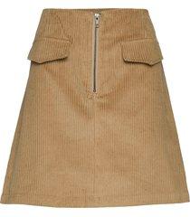 lr-gertrud kort kjol brun levete room