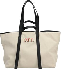 off white commercial tote bag