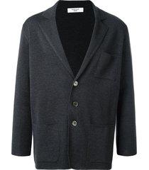 fashion clinic timeless three button cardigan - grey