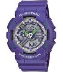 reloj g shock ga_110dn_6 violeta resina