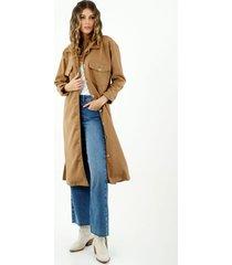 abrigo largo de mujer estilo gabardina