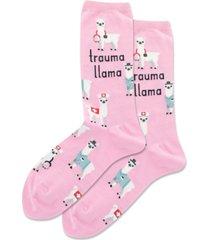 hot sox trauma llama crew socks