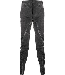 masnada ruched slim fit trousers - grey