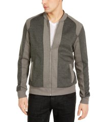 inc men's pieced colorblocked textured knit bomber jacket, created for macy's