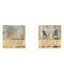 """trendy decor 4u dream/relax collection by dee dee, printed wall art, ready to hang, white frame, 28"""" x 14"""""""