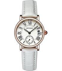 orologi al quarzo alla moda con quadrante rotondo con numeri romani semplici cinturini in pelle per donna