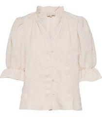bergitta blouse blus långärmad vit minus