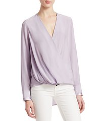 victor silk wrap blouse