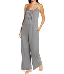 socialite sleeveless wide leg jumpsuit, size x-small in light grey at nordstrom