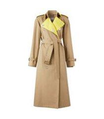 burberry trench coat color block - marrom