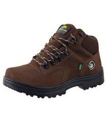 bota adventure bell boots couro trilhas escalada dia a dia marrom