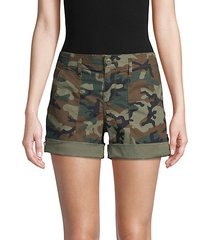 camouflage stretch-cotton shorts