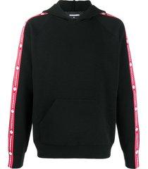 dsquared2 appliqué logo wool hoodie - black