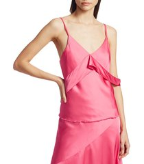 helmut lang women's sash slip top - neon pink - size 2