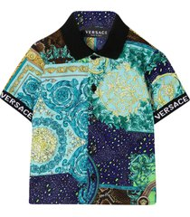 young versace blue polo shirt