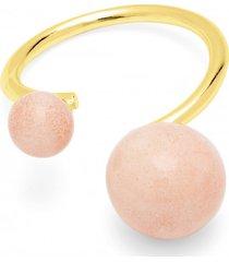 pierścionek pearl pozłacany