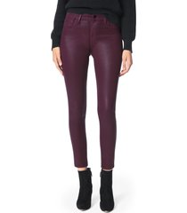 women's joe's the charlie coated ankle skinny jeans, size 24 - red
