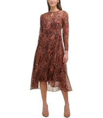 tommy hilfiger casbah printed midi dress